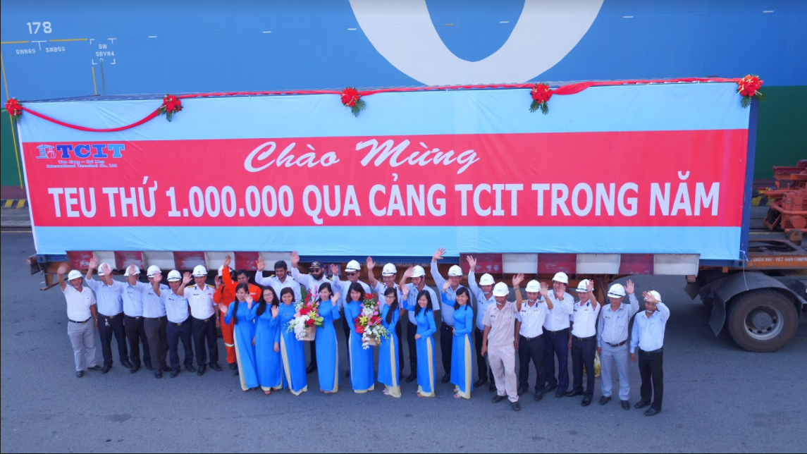 TCIT FIRST TIME WELCOMES THE 1,000,000TH TEU IN A YEAR